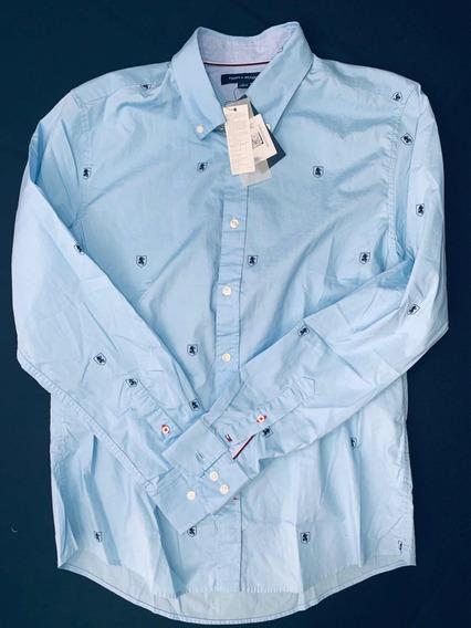 74b463fafcc8 Tommy Hilfiger Camisa Azul Cielo - Ropa, Bolsas y Calzado en Mercado ...