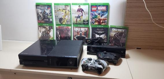 Xbox One 500gb 2 Controles + Kinect + 9 Jogos