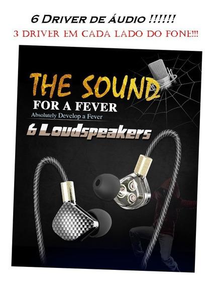 Fone In Ear Profissional Com 6 Driver De Áudio Exclusivo !!!