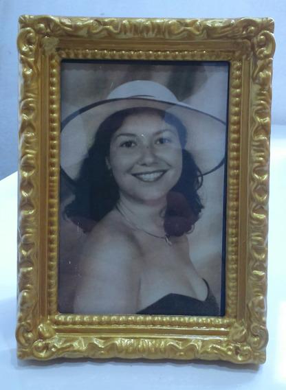 Porta Retrato Retro 10x15cm Com Vidro