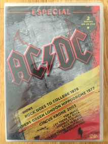 Dvd Ac/dc Rock Goes To College 1978 + Circus Krone 2003 Novo