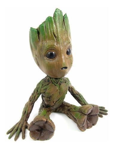Boneco Baby Groot 30cm Pintado Realista (guardiões Galáxias)