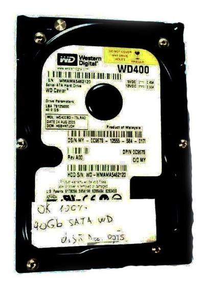 Disco Rígido Sata 40gb Pc + Cable Sata