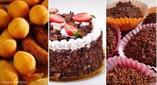 Kit Festa 50 Pessoas - Salgados+doces+bolo