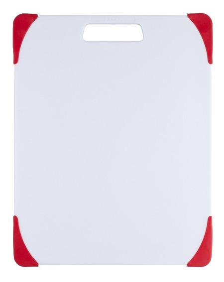 Tabla Para Picar 11x14 Cm Ekco Evolution Color Blanco Y Rojo