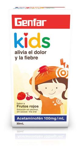 Genfar Acetaminofen Kids Sabor Frutos Rojos 100mg Caja X 30m
