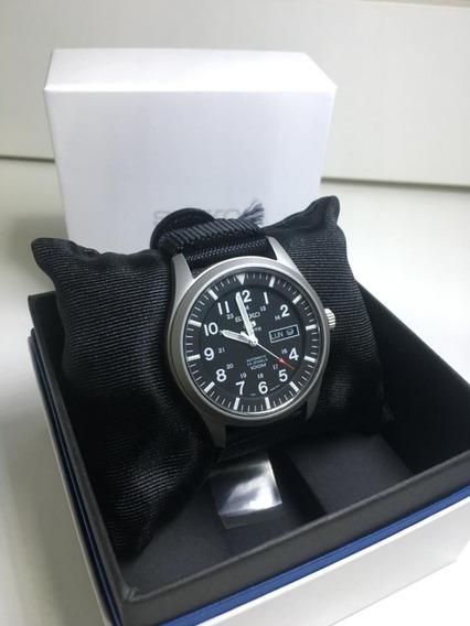 Relógio Seiko Militar Preto Sng15k1 Novo