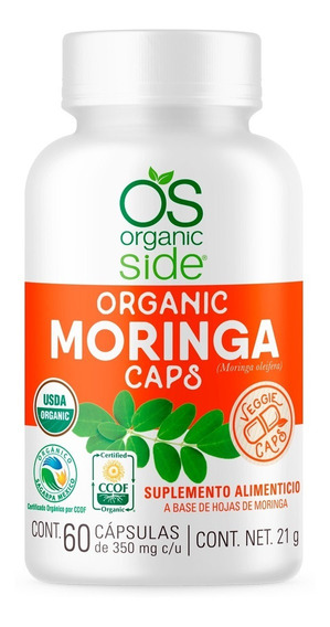 Moringa Orgánica 60 Cápsulas