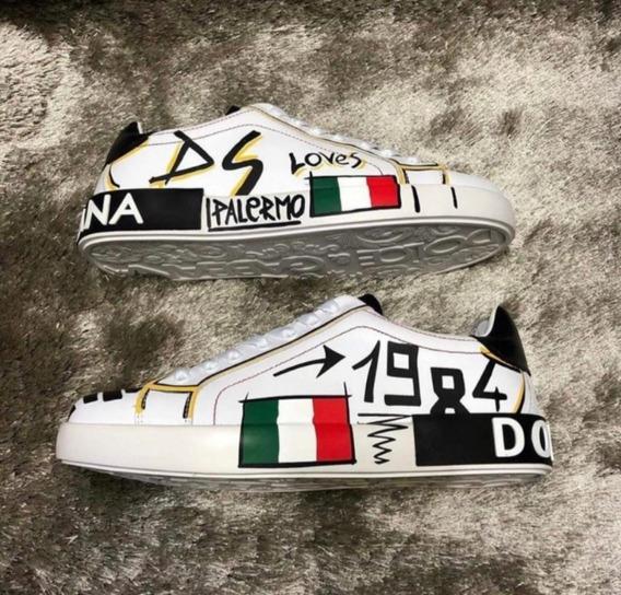 Tênis D&g Masculino - Portofino Itália