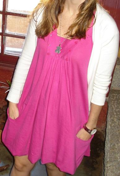 Vestido Curto De Malha Farm Pink