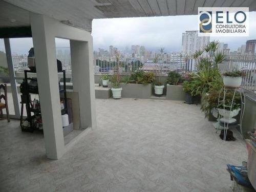 Imagem 1 de 25 de Cobertura À Venda, 220 M² Por R$ 900.000,00 - Boqueirão - Santos/sp - Co0050