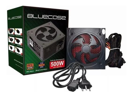 Fonte Atx Bluecase 500w Blu500pfc - Bivolt Automatico