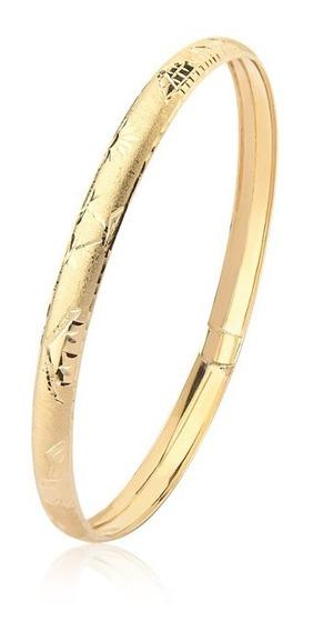 Pulseira Bracelete Oca Egípcia Ouro 18k M8