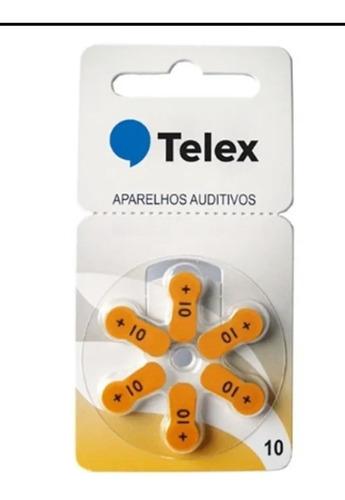Pilha 10 Aparelho Auditivo Pr70 Telex (10 Cartelas-60pilhas)