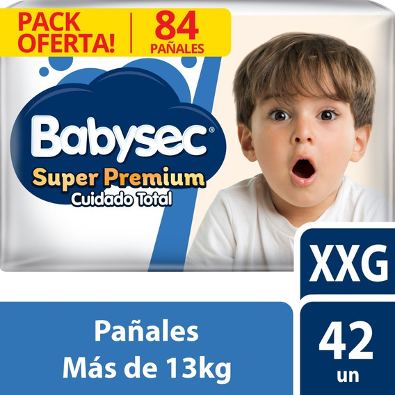 Pañal Babysec Super Premium Xxg X84