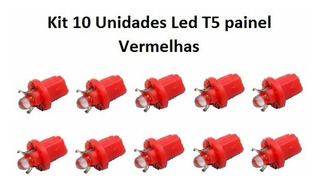 Kit 10 Unidades Painel Lâmpada T5 1led Vermelha Carro Barato