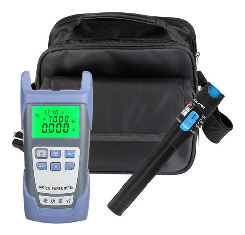 Kit Medidor De Potencia Power Meter + Vfl Fibra Optica Ftth