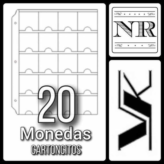 10 Hojas Para Monedas (cartoncitos) - Vk