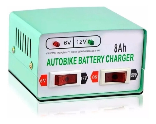 Imagen 1 de 4 de Cargador De Bateria Para Autos Y Motos 12v / 6v - 8ah