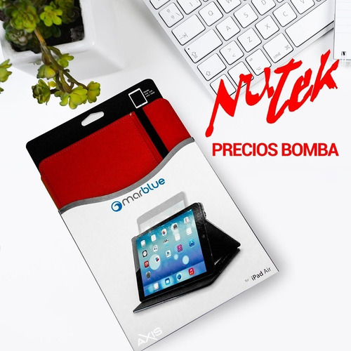 Estuche Ajenda iPad Air 1,2 Marca Mareblue Axxis 2 Colores