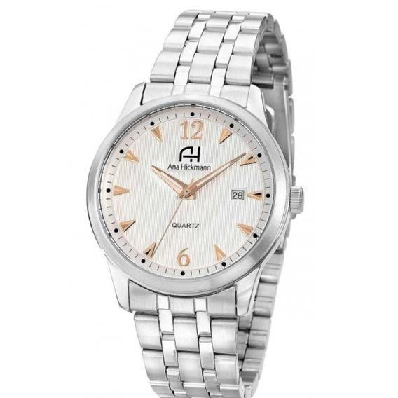 Relógio Feminino Ana Hickmann Analógico Ah29043q Prata
