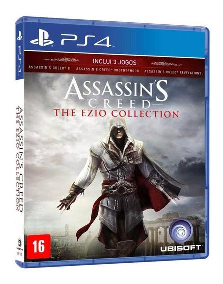 Assassins Creed The Ezio Collection Ps4 Mídia Física Lacrada