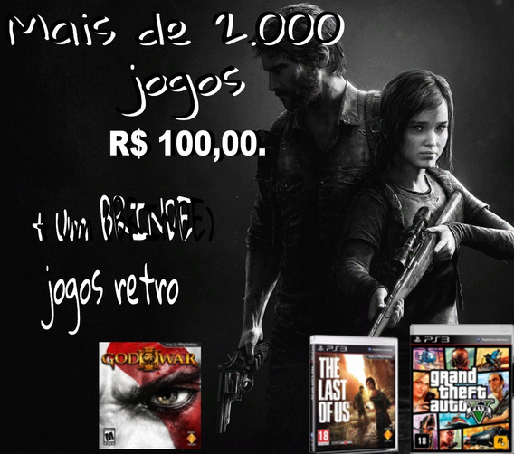 Promoça De 2.000 Jogos De Ps3 + (brinde) Jogos Retro