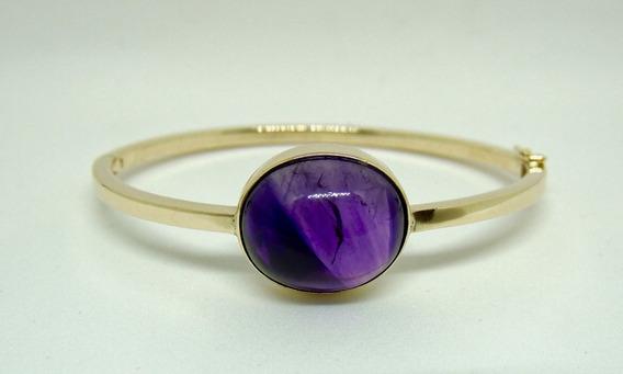 Glitter Joias - Bracelete Pulseira Ouro 18k E Ametista 16gr