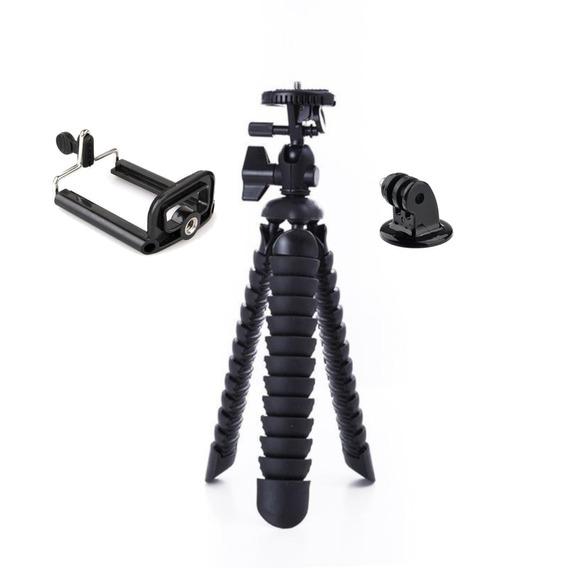 Mini Tripé 25 Cm Octopus Cameras Nikon Suporte Celular Gopro