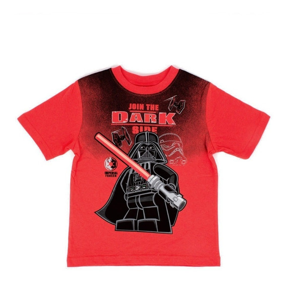 Playera Para Niño Lego Estampado Star Wars Darth Vader Red