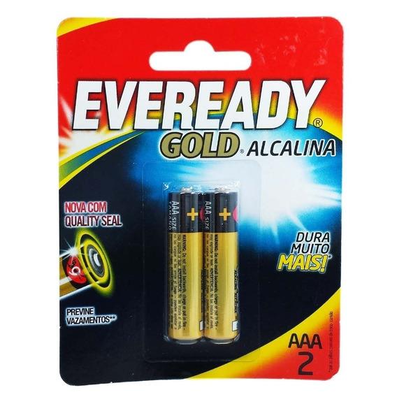 Pilha Eveready Gold Aaa2 Alcalina Caixa C/20 Pares 40 Pilhas
