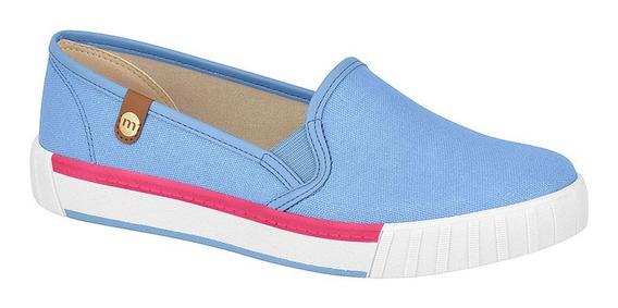 Pancha Zapato Mujer Importada Moleca Lona Brillosa 5645.722