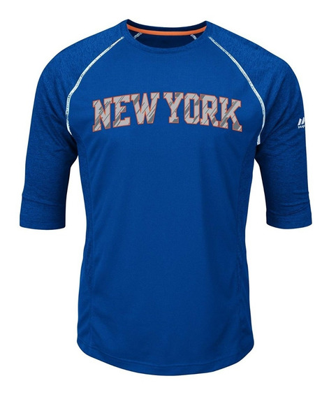 Playera Nba New York Knicks Manga 3/4 Deportiva Original