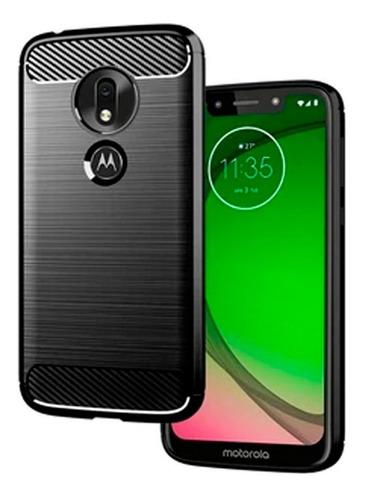 Imagen 1 de 1 de Forro Protector Fibra Carbono Para Motorola Moto G7 Play