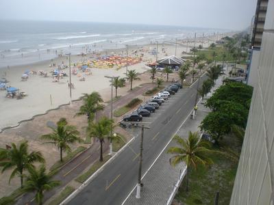 Alugo Apto De Frente P/o Mar Na Praia Grande