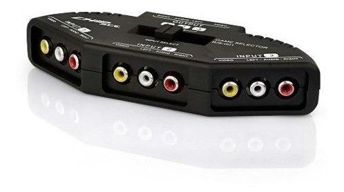 Chave Seletora Rca Switch Av Transformador Av 3 Em 1