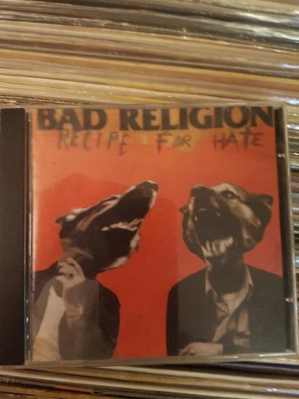 Cd Bad Religion - Recipe For Hate - Original