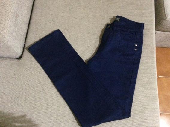 Pantalon Jean Azul Oscuro Mujer Elastizado Talle 40