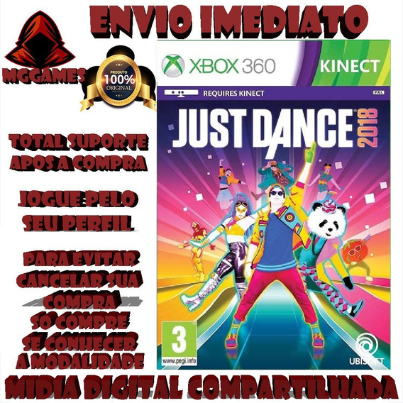 Just Dance 2018® Xbox 360 - Midia Digital Compartilhada