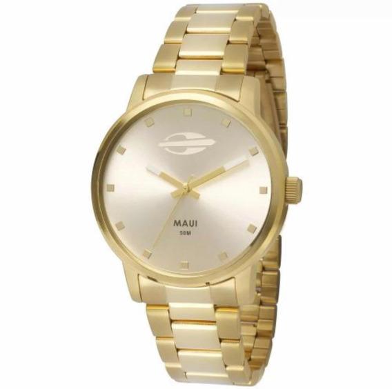 Relógio Mormaii Feminino Dourado Mo2035gn/4k