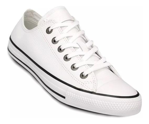 Zapatillas Converse All Star Ox Cuero Blancas