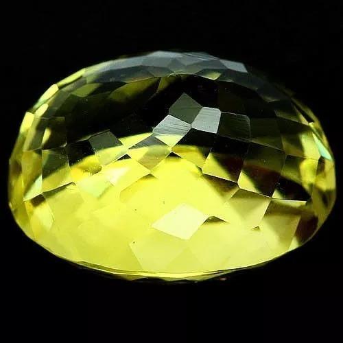 Quartzo Green Gold Natural*19.92 Cts(17.8x14.9mm)