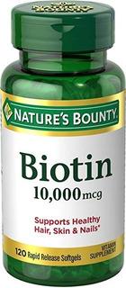 Biotina 10.000 120 Softgels Importado