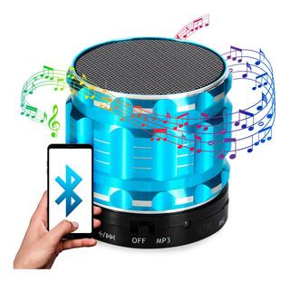 Parlante Portatil Bluetooth Micro Sd Luz Usb