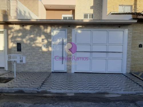 Imagem 1 de 3 de Lindo Sobrado, 03 Dormitórios (sendo 01 Suíte), Em Jardim Dos Ipês - Suzano/sp. - So00513 - 69511678