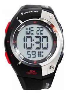 Reloj Eurotime Digital Caballero Sumergible -recoleta Tmreyz