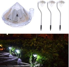 Kit 4 Luminária Espeto Solar Para Jardim