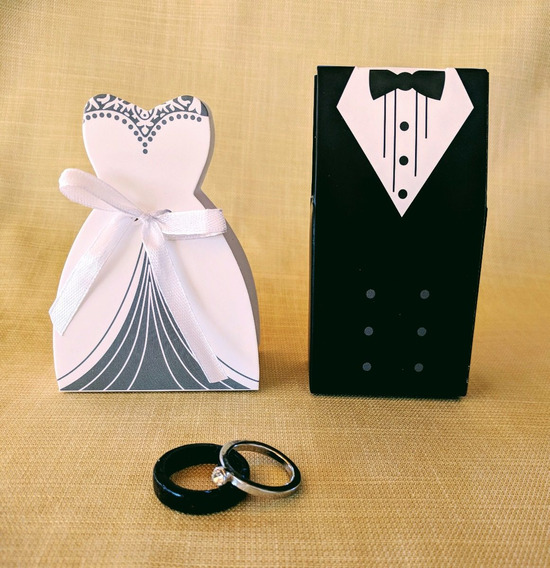 Cajas Souvenir Novios Boda Casamiento Vestido Tuxedo