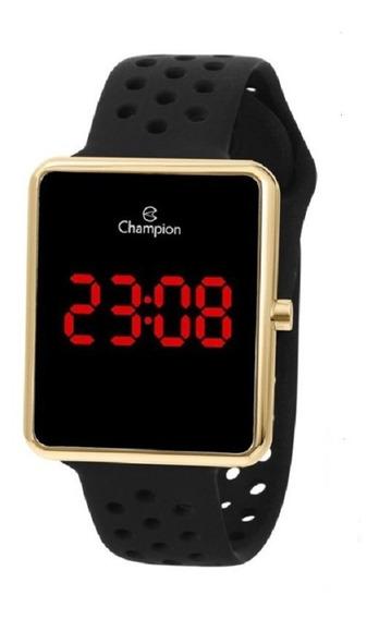 Relógio Champion Feminino Digital Led Ch40081p Rose Quadrado