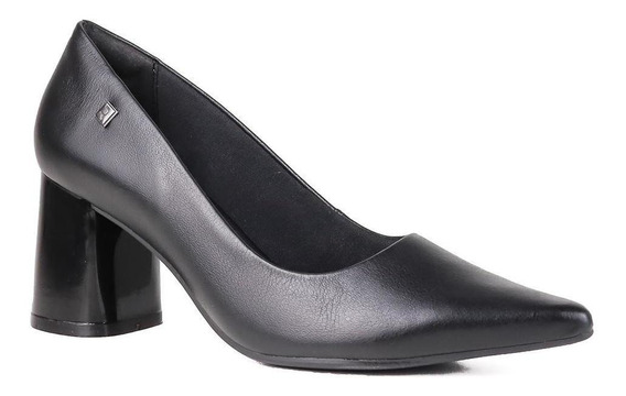 Sapato Scarpin Ramarim Salto Grosso Verniz